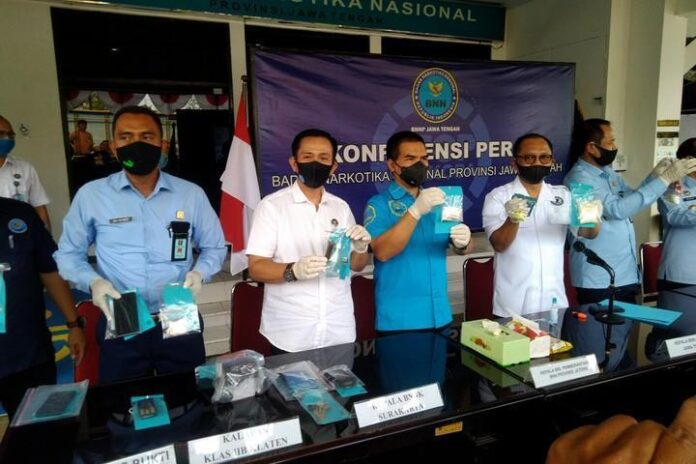 BNNP Jateng Barang bukti narkoba