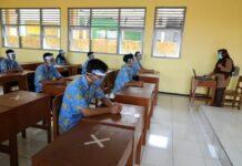 Siswa sekolah di Temanggung