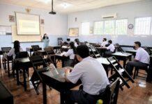 Pelajaran tatap muka di sekolah