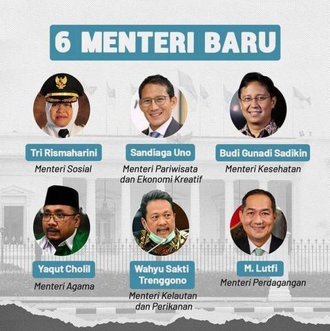 6 Menteri Baru Jokowi