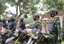 Personel Brimob dan TNI Kodam IV Diponegoro