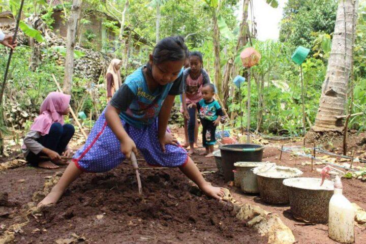 Kegiatan belajar Sekolah Pagesangan Gunung Kidul 6