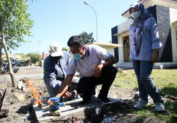 Titik sumber gas baru api abadi Mrapen