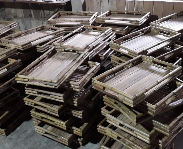 Baki bambu siap dikirim ke Belanda