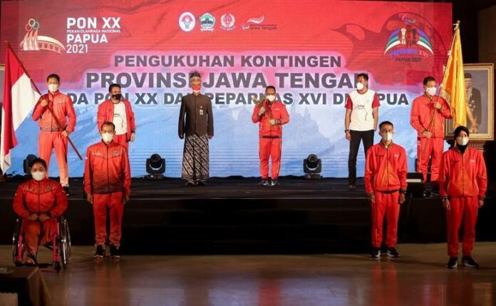 Pengukuhan atlet PON XX Papua